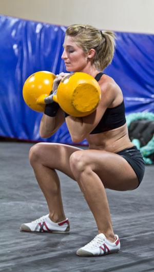 Kettlebell-Training - der Squat mit Kettlebells